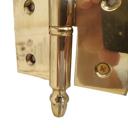 Dobradiça Torpedo 6 X 3 1/2 polegadas Latão Polido Dourado