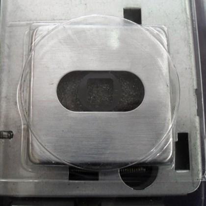 Fechadura Rolete Imab 1710 Externa Cromado Acetinado Roseta Quadrada