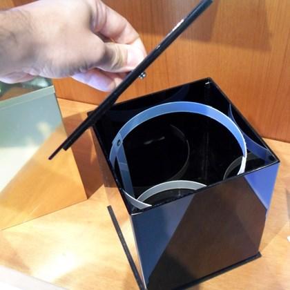 Lixeira Quadrada Preto 5 litros Acrílico