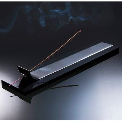 Porta Incenso Zen Jazz Preto com Cromado
