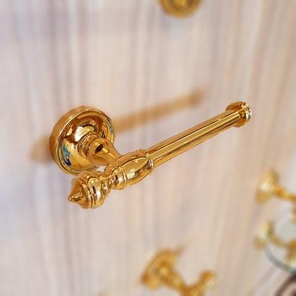 Porta Papel Clássico Ouro Real Dourado