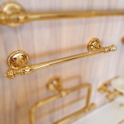 Porta Toalha Clássico Ouro Real 40 cmts Dourado