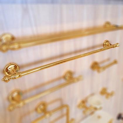 Porta Toalha Clássico Ouro Real 60 cmts Dourado