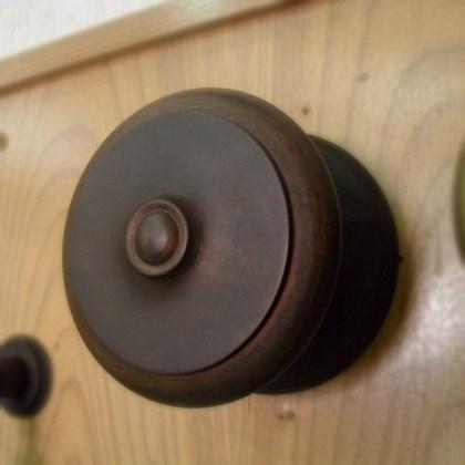 Puxador Alça Bola Torneada Maciça 5 polegadas Ferrugem