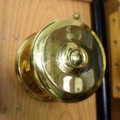 Puxador Alça Bola Torneada Maciça 5 polegadas Latão Polido