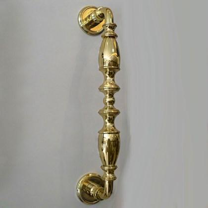 Puxador Alça Clássica Latão Polido Dourado Contemporânea