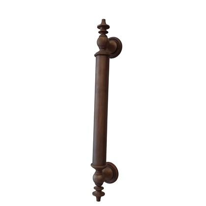Puxador Alça Clássica Medieval Latão Ferrugem