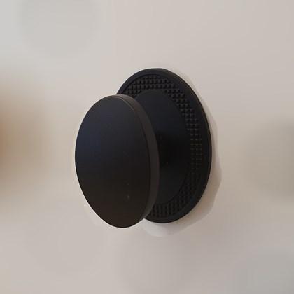 Puxador Beetle com Base Granada Preto Fosco Zen