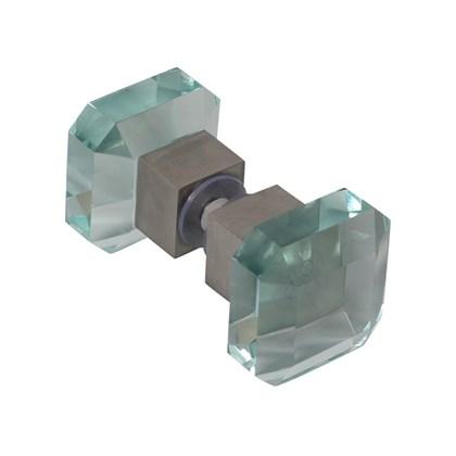 Puxador Box Vidro Quadrado 3,5 x7,5 cm Victrix