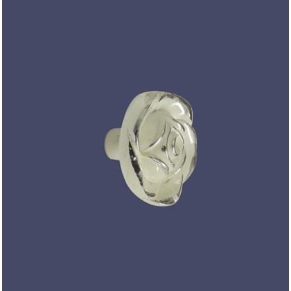 Puxador Floral Branco Provençal 165